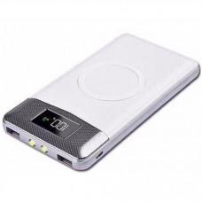 Аккумулятор с беспроводной зарядкой QI Wireless Charger Black (белый)
